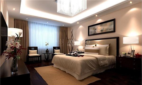 这个卧室采用了黑白来布置空间,相对简洁,把很多现代化元素的东西融入到中式的古典韵味中,让这里的风格特别,值得细细品味。