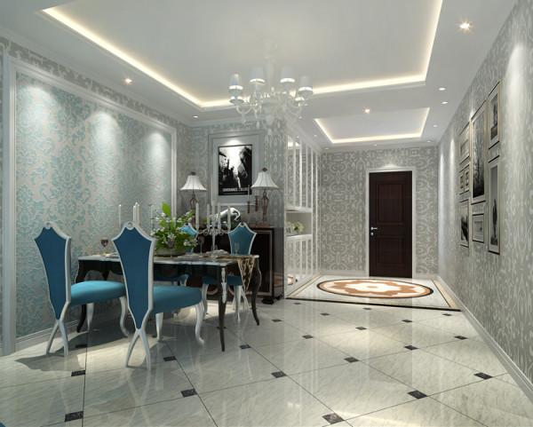 城建琨廷二居室106平户型餐厅效果图