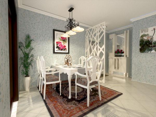 华贸城128平二居室餐厅效果图展示