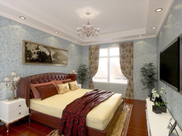 华贸城128平二居室卧室效果图展示