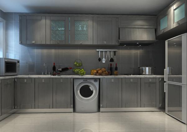 城建琨廷二居室106平户型厨房效果图