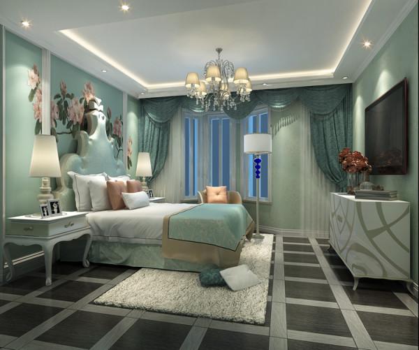 城建琨廷二居室106平户型卧室效果图