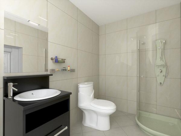 华贸城128平二居室卫生间效果图展示