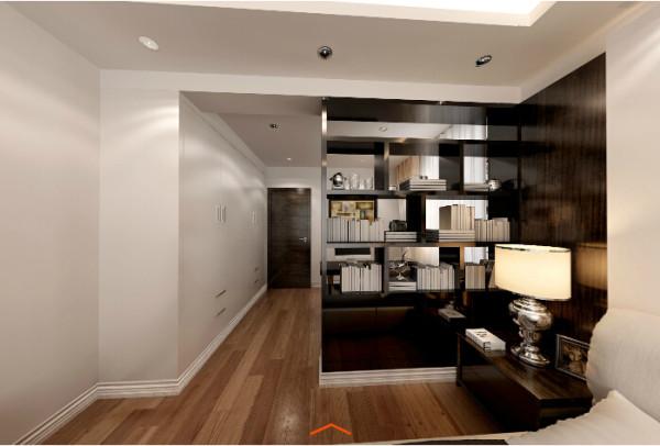 二居简约黑白灰卓锦城成都实创书房装修效果图片