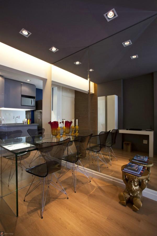 约现代今朝装饰老房装修一居室60平米老房餐厅装修效果图片 装修美高清图片