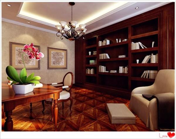 开放式的书房设计中,体现了主人对生活的热爱,整个空间从整体到细节,处处彰显出大方得体的尺度感,有一种掩饰不住的梦幻之美,如一出华丽的视觉歌剧。