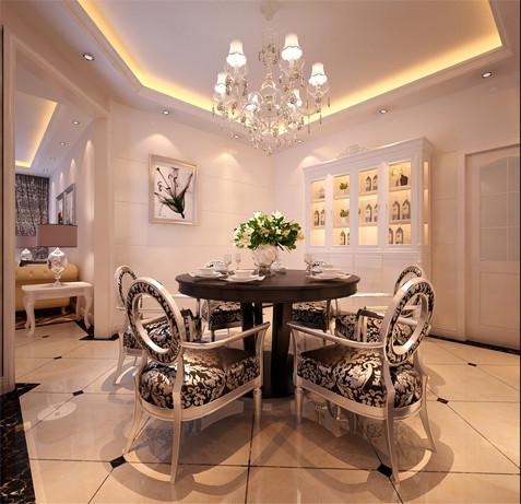 设计理念:餐厅卧室中隐藏门,将传统欧式家居的奢华与现代家居的实用性完美地结合。壁炉自然不可或缺,它被安置在空间结构的交汇处,与一幅色彩鲜艳的油画相呼应,敞开式的客厅提供了一个视觉中心。