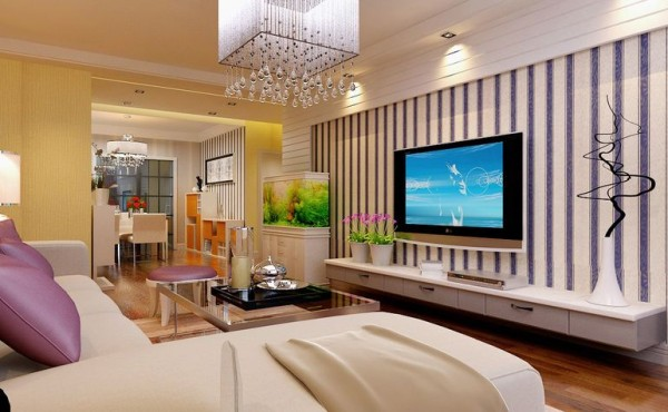 名湖豪庭125平三居室简约舒适温馨装修设计
