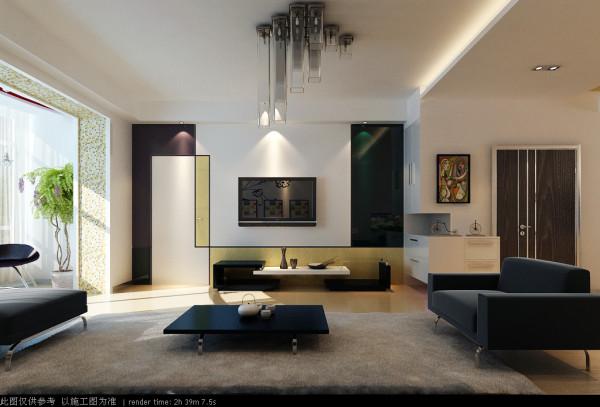 隐形门增加了影视墙的宽度,解决了沙发与电视不对焦的问题,缓解了眼疲劳。