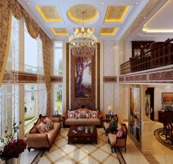 石家庄业之峰装饰-卓达太阳城别墅300平米欧式风格装修效果图