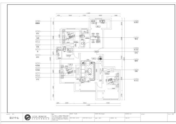 金御瞰景一期5号楼标准层B1户型3室2卫1厨 139.91㎡