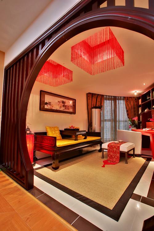 简约新中式老房装修小户型40平米今朝装饰80后旧房改造客厅高清图片