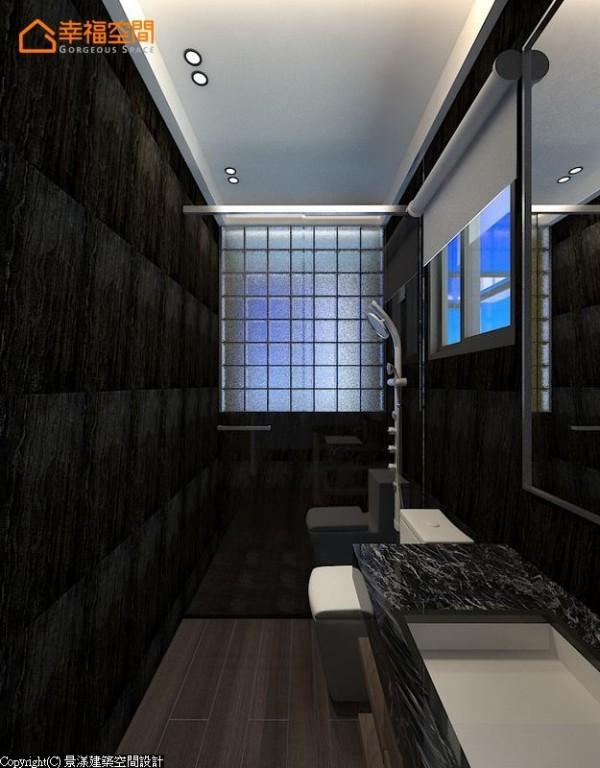 玻璃砖的设计让卫浴有更多元的采光变化。 (此为3D合成示意图)