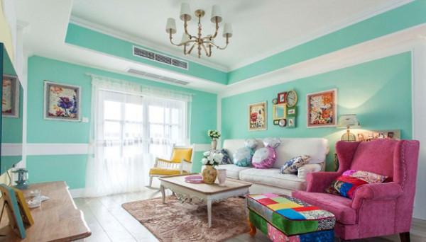 老房装修换新装,好像90后一样的鲜嫩的颜色,清新的感觉。