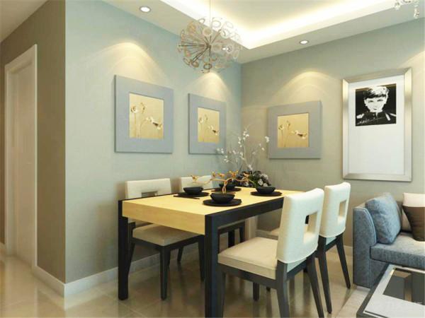 客厅餐厅的墙面是咖色的乳胶漆,比白色墙面更显现代气息。电视背景墙是黑镜与石膏板的结合,里面是黑镜,外面是拉缝石膏板,电视柜不是一个独立的柜子,是很简单的一个隔板,与电视背景墙相统一