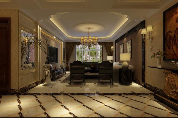 石家庄业之峰装饰-北城国际190平米欧式风格装修效果图
