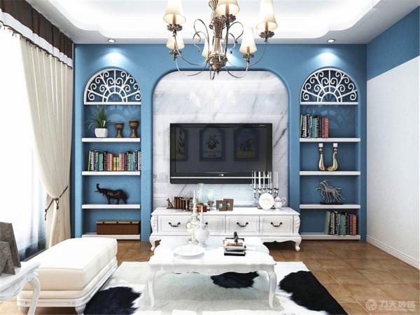 本风格为地中海风格。地中海风格在家庭装修中掀起一股浪潮,色泽柔美清新的装饰很适合闷热的夏天,清爽的居室装修带来怡人的感觉。
