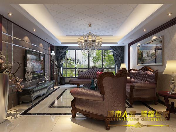 房子的设计采用除了地砖和吊顶使用的是淡色系外,家具以及装饰使用的都是深色系,一深一浅两种色调,让整个房子有一种低调的奢华感,