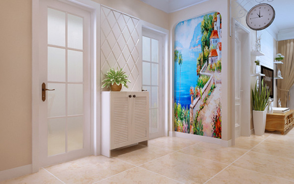 郑州东方鼎盛88平方两室两厅装修案例效果图