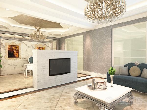 本案是碧新园户型3室2厅3卫1厨 200㎡。这次的设计风格定义为后奢华风格。