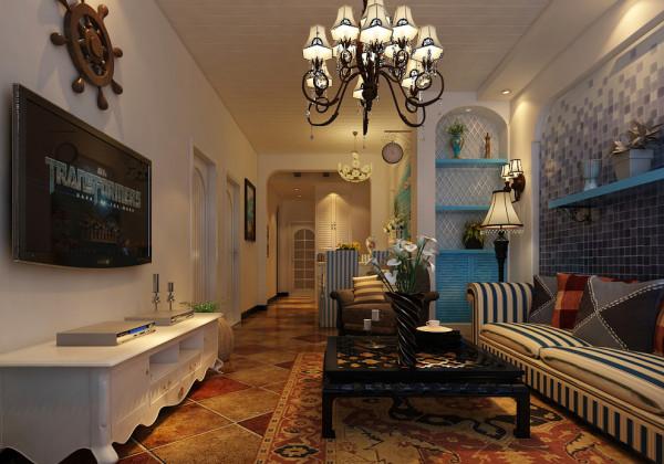 家具家电的选择上面也是花了心思。生动而浪漫的地中海。