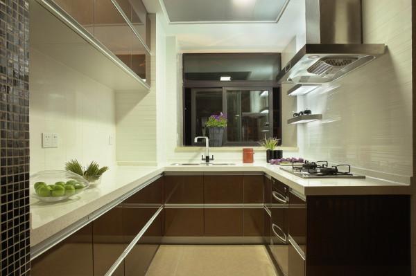 蓝水湾现代中式风格装修案例效果图-蓝水湾现代中式风格装修案例厨房装修效果图