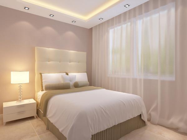 卧室整体温馨舒适,床头背景以软包的形式,配以白色的家具加上窗户充足的采光使床头增加活力。让卧室更加魅力。