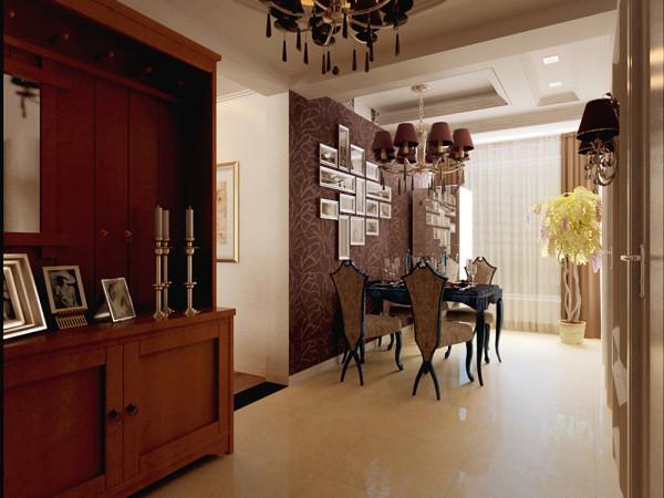 深色的餐椅餐桌增加空间色调对比度,使空间更加清晰色调更加丰富,营造出温馨舒适的感觉。