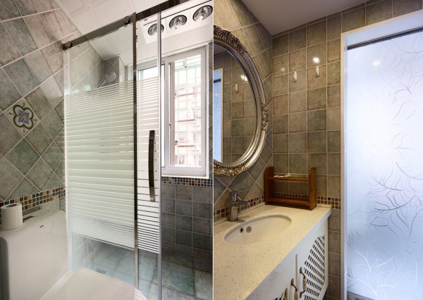 装饰地中海风格老房装修90平米装修卫生间高清图片