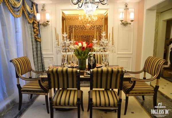 奢华欧式宫廷别墅装修案例——餐厅