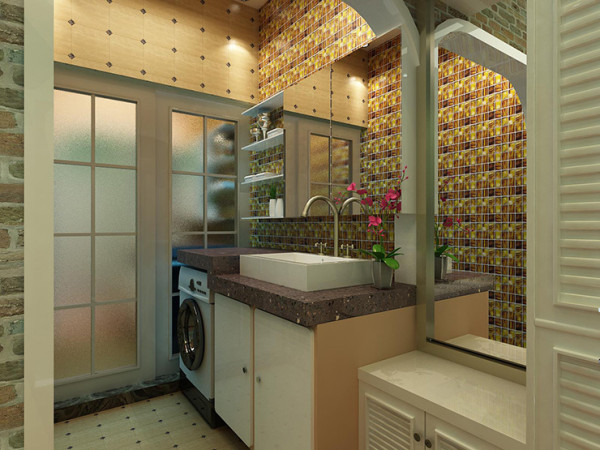 汉飞金沙国际60平方一室一厅装修案例效果图