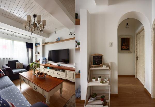 装饰地中海风格老房装修90平米装修客厅高清图片