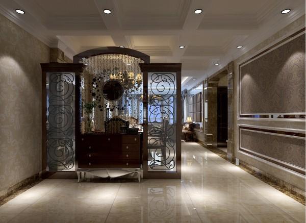 时尚与奢华于一体的玄关设计,一进门边能感受到业主的大气尊贵的生活态度。