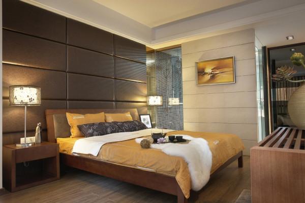 蓝水湾现代中式风格装修案例效果图-蓝水湾现代中式风格装修案例卧室装修效果图
