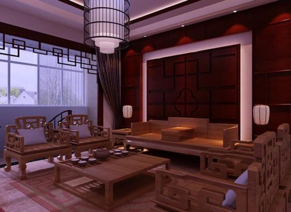茶室的设计较为简单,在屋里挂上几幅山水画,以及桌子上放置的收藏品,都彰显了业主的品位。