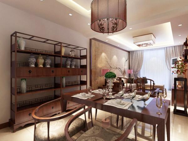 本案在总体上呈现多元化,兼容并蓄的状况。室内布置中也有既趋于现代实用,又吸取传统的特征,例如传统中式的茶几、餐桌;传统木质吸顶灯具和墙面装饰画,配以现代的沙发等等