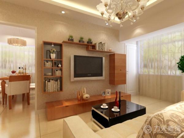 本案以白暖色乳胶漆的墙体为主,营造一种干净舒适的感觉。