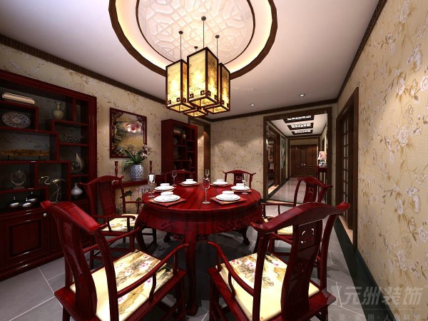 传统的中式家具最能体现出中式风格特点,传统的中式风格餐桌,传统的中式风格的太师椅,搭配上同时采用实木制作的框架,搭配上古朴的艺术品,搭配上一个中式的吊顶,更显中国风。