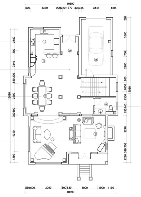 北京别墅装修——平面布局图