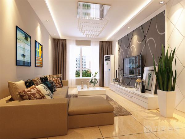 本方案围绕现代简约为主题,整个空间主要体现简洁、明快的特点,业主是一对中年夫妇,喜欢一些富有年轻、有活力的空间。