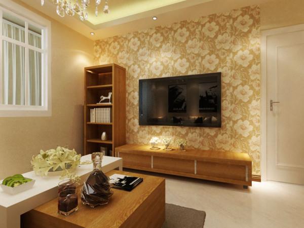 由于整体空间较小,因此在客、餐厅区域选择了白色的人造大理石,既容易清洗,又使得整个空间显得更大些。沙发选择了棕色的沙发,整体效果浑然天成,木色的茶几使得整体效果更加归于自然,既大方又气派。