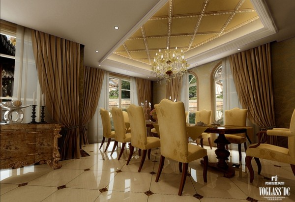中西汇通打造雅致别墅空间设计——餐厅