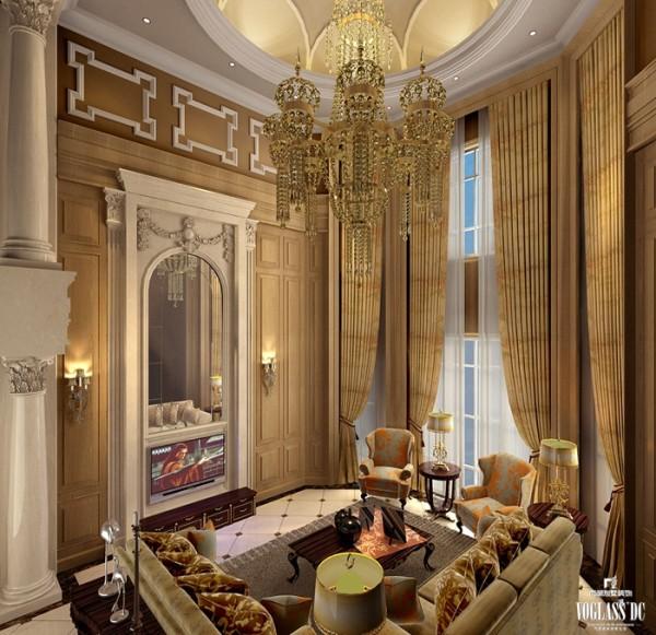 中西汇通打造雅致别墅空间设计——客厅