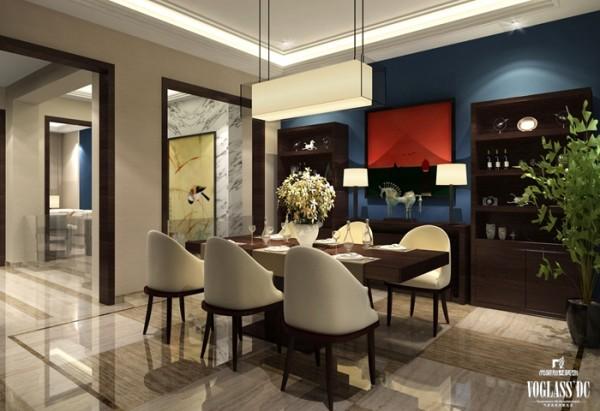 中式混搭高端别墅设计——餐厅