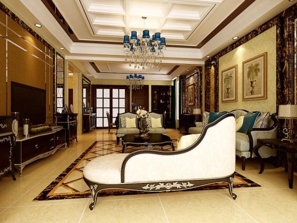 本案在主要空间上都是采用豪华欧式风格,追求豪华,但不落俗套的感觉。