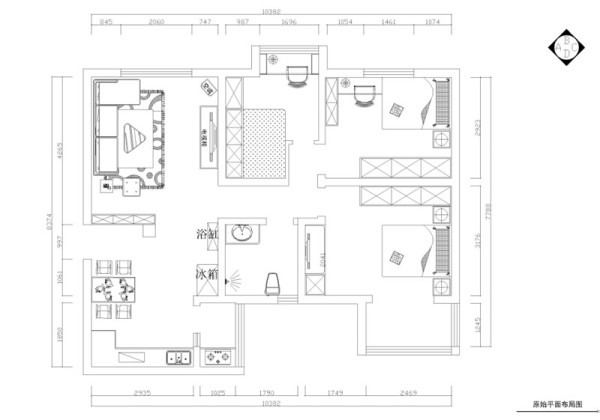 整体布局合理,设计思路以简洁实用为主。客餐厅地面采用米黄色800*800地砖正铺,过道四周用深色啡网纹圈边,达到一个分化空间的作用