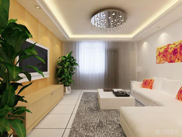 在家具选配上,选择的是亲近自然的木色,简洁、流畅的线条,打造个性、时尚的家居,简约的同时还融入了自然的元素。在配饰上,选择的是绿植的摆放。迎合了现代人向往简单、自然的生活态度。