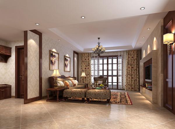 龙源世纪家园120平方三室两厅装修案例,客厅装修效果图