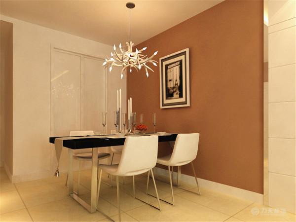 餐厅背景墙与客厅沙发背景墙采用了相同的设计,达到了呼应效果