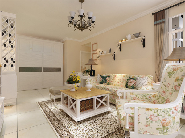 总体色调选择淡黄色来使空间更加温馨舒适。本方案在造型上大都用简单的点、线、面来对空间进行修饰,家具的搭配也选用符合空间主题的色调和造型,适当的饰品配饰来对空间进行中和